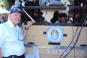 1-4-2017 - Carlos (lu7eiy) Transmisión de LU4EV desde la Plaza de la Unidad Nacional de Caseros otorgando QSL especial por la gesta de Malvinas.
