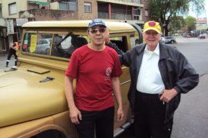 29-10-2017. Juan (LU3DJP) y Carlos (LU7EIY). Apoyo radial Maratón UTF.