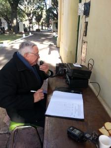 17-18-5-2014 Carlos LU7EIY operando desde el Museo del Ejército (Ciudadela)