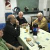 18/11/2017. Examen. Raúl (LW4EJA) y Sergio (LU2AO) (Instructores) y José (LU9EN) en la sobremesa despues de disfrutas los ricos choripanes cocinados por Javier (LU9DJT)
